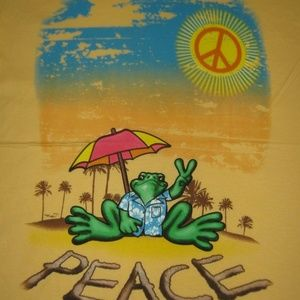 Peace Frogs Shirts - Peace Frogs T-Shirt Beach Sand Sunshine Unisex